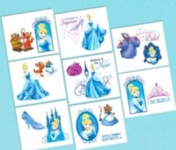 Cinderella Birthday Party 16 Tattoos Favors Loot Fillers - €1,37 EUR