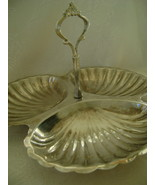 Serving Dish, Silverplate, 3 Seashell Sections, Elegant - $15.00