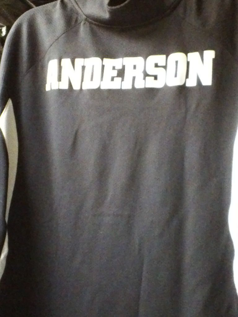 NIKE team FIT dry XL 1/4 ZIPPER BLACK F.A.C.E.S. Anderson jersey