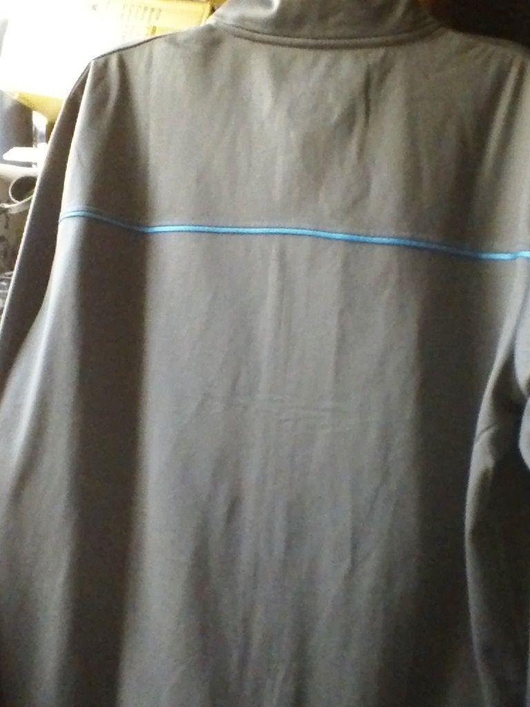 Filas 100% POLYESTER gray turquoise size XL FULL ZIPPER JACKET 2 ZIPPERED POCKET