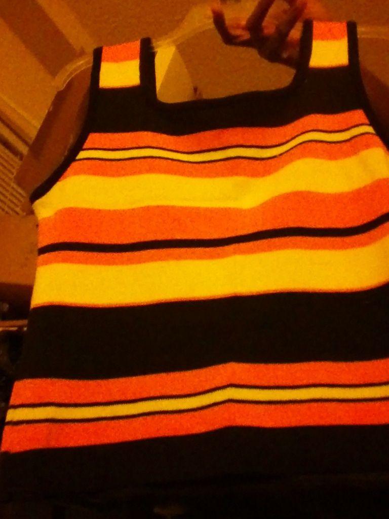 M.k.m designs white BLACK Orange size medium vest MULTI-COLOR