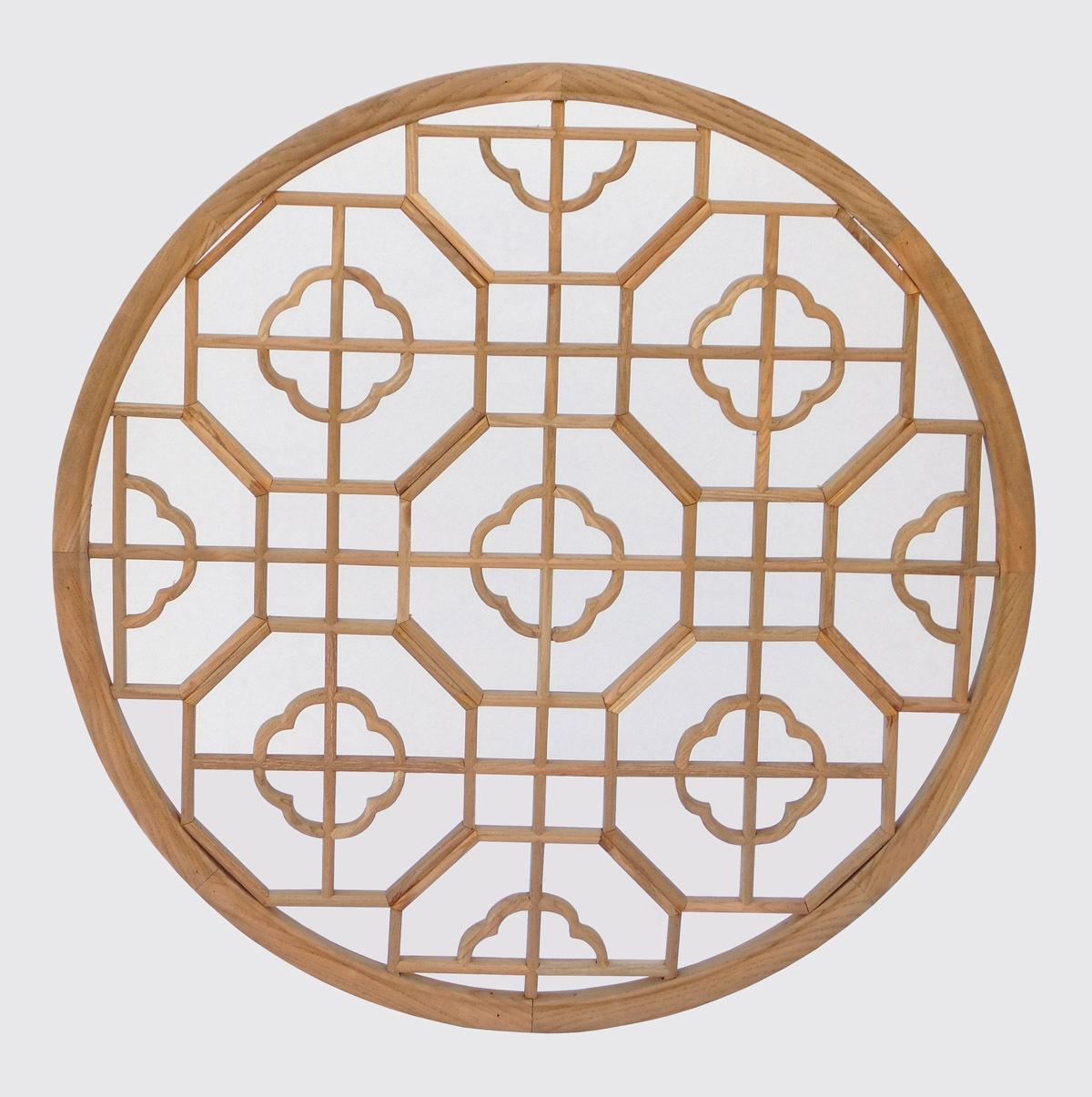 Chinese Round Flower Geometric Pattern Wall Panel cs2224