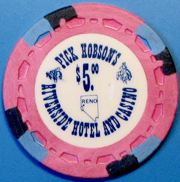 $5 Casino Chip, Riverside, Reno, NV. M01.