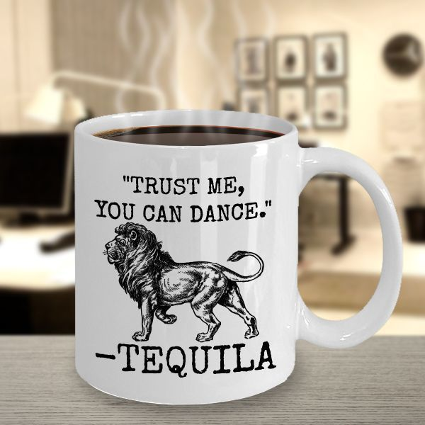 Tequila Mug 11oz Novelty Ceramic Coffe Tea Cup Funny Gift For Tequila Drinkers