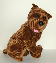 1/2 Price! Big Shar Pei Wrinkled Brown Dog Plush Ideal Toys NWOT - $8.00