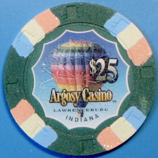 $25 Casino Chip. Argosy, Lawrenceburg, IN. M01.