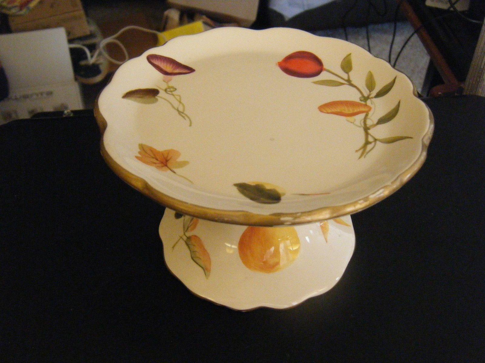 The White Barn Candle Co. Floral & Fruit Pattern Tabletop Candle Pedestal