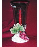 CBK GLASS AND POLYRESIN MULTI-COLOR GRAPE DESIGN TAPER HOLDER - $14.95