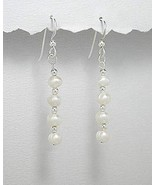 .925, STERLING SILVER AND PEARL DANGLE EARRINGS - $24.95