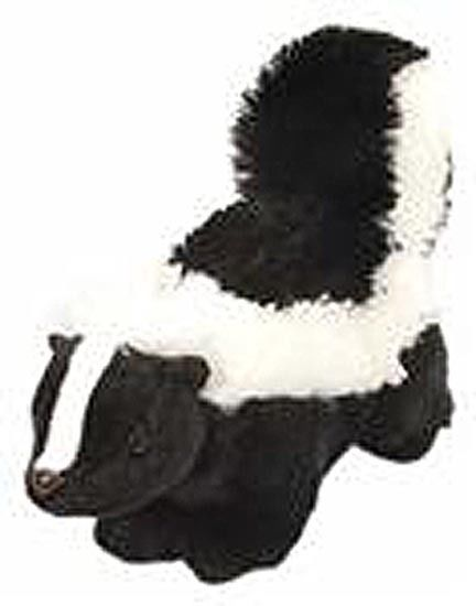 Wild Republic Plush Black & White, 12 Inch Skunk Stuffed Animal, Boys and Girls