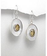 MOTHER OF PEARL (NACRE) & STERLING SILVER DANGLE EARRINGS - $29.95