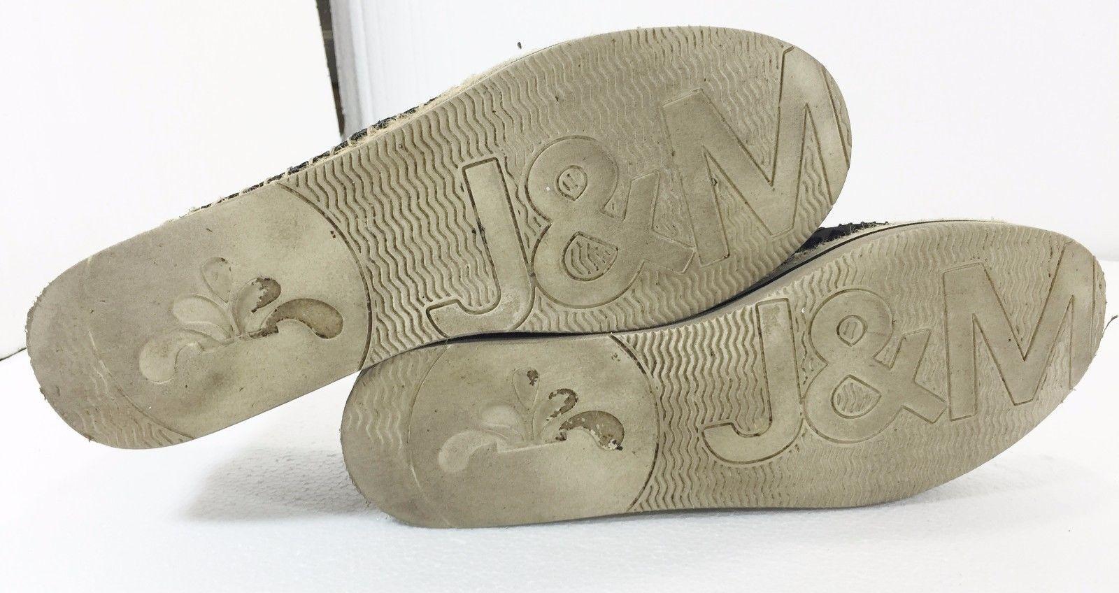 Joy & Mario Womens 7.5 W Black Fabric Flat Slip-On Shoes