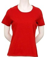 WOMEN'S COTTON CASUAL SHORT SLEEVE ROUND NECK SOLID T-SHIRT - $9.95