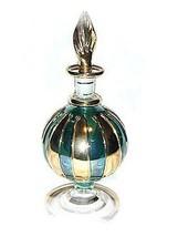 German Pyrex Glass Mouth Blown Egyptian Perfume Bottle - $21.95