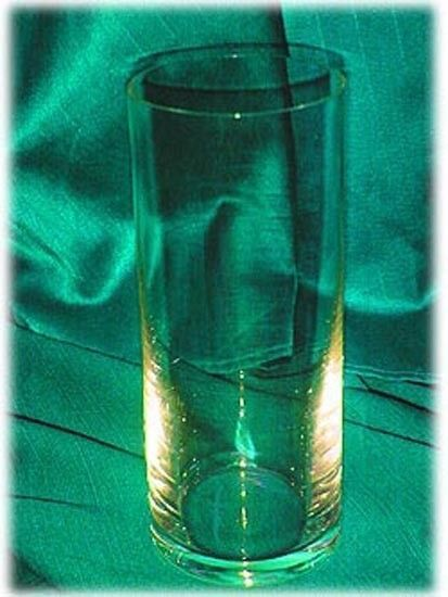 CONTEMPORARY CLEAR GLASS VASE STRAIGHT VASE