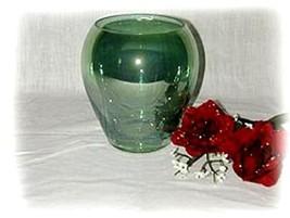 GREEN GLASS VASE - $15.95