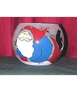 SANTA FROSTED GLASS, CHRISTMAS VOTIVE HOLDERS (Set of 2) - $12.95