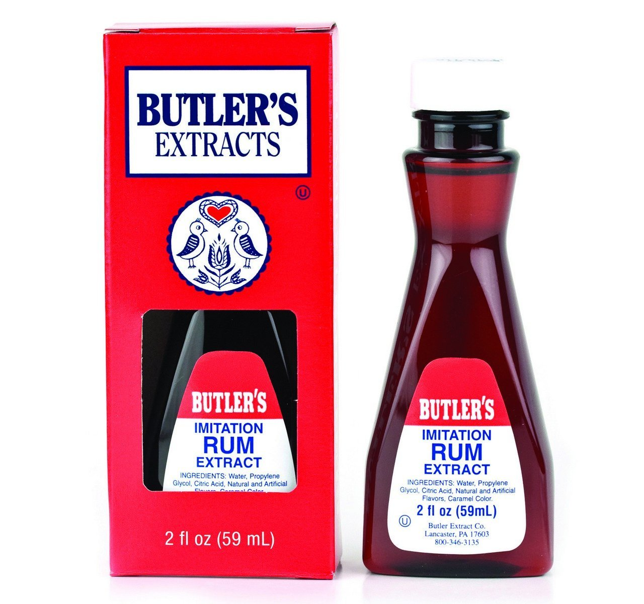 Primary image for Butler's Imitation Rum Extract, 2 Oz. Bottle