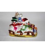 Christopher Radko 2000 Pillsbury Doughboy Sledding Blown Glass Ornament ... - $32.00