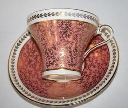 Aynsley England Fine Bone China #2900 Pink Gold Chintz Corset Cup & Sauc... - $50.00