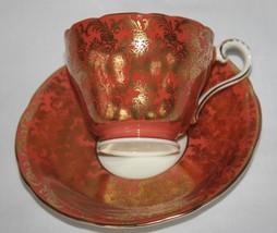 Aynsley England Bone China #869 Salmon Gold Chintz Cup & Saucer Set - $45.00