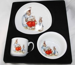 Reutter Germany Porcelain Beatrix Potter Child's Plate Cup Bowl Set NIB ... - $34.00