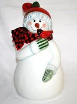 """Pfaltzgraff Camp Jingles 14"""" Snowman Cookie Jar #943 - $70.00"""