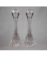 Mikasa Austria Park Lane Crystal Ribbed Candlestick Holders Set/2 EUC  #... - $40.00