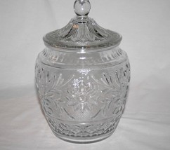 """Vintage Anchor Hocking Clear Sandwich Glass 10"""" Cookie Jar with Lid #1728 - $35.00"""
