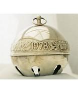 Wallace Silverplate -1978 Legendary Christmas Rose- Sleigh Bell Ornament... - $50.00