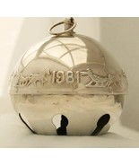 Wallace Silverplate -1981 Dashing Through the Snow- Sleigh Bell Ornament... - $65.00