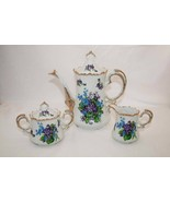Vintage Lefton China Spring Bouquet Creamer, Sugar, Coffee Pot -Excellent- - $125.00