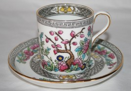 Aynsley Indian Tree Pattern A1173 Demitasse Cup & Saucer Set  - $38.00