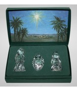 Waterford Crystal Marquis Miniature 3 Nativity Figurines The Holy Family... - $80.00