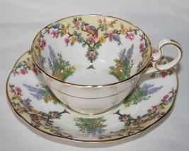 Aynsley White Yellow Bird & Floral Tea Cup & Saucer Set - $60.00