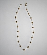 "PREMIER DESIGNS Jewelry Two Toned Signature Necklace 18""  D62DB - $35.00"