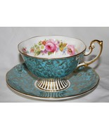 Royal Albert Turquoise Gold Chintz Tea Cup & Saucer Set Multi-Colored Fl... - $75.00