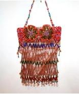 Gorgeous Glass Crystal Tube & Seed Bead Bright Multi-Colored Handbag    ... - $139.00