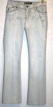ROCK & REPUBLIC Kasandra Low Rise Boot Cut Grey Splatter Jeans Sz 25   #... - $85.00