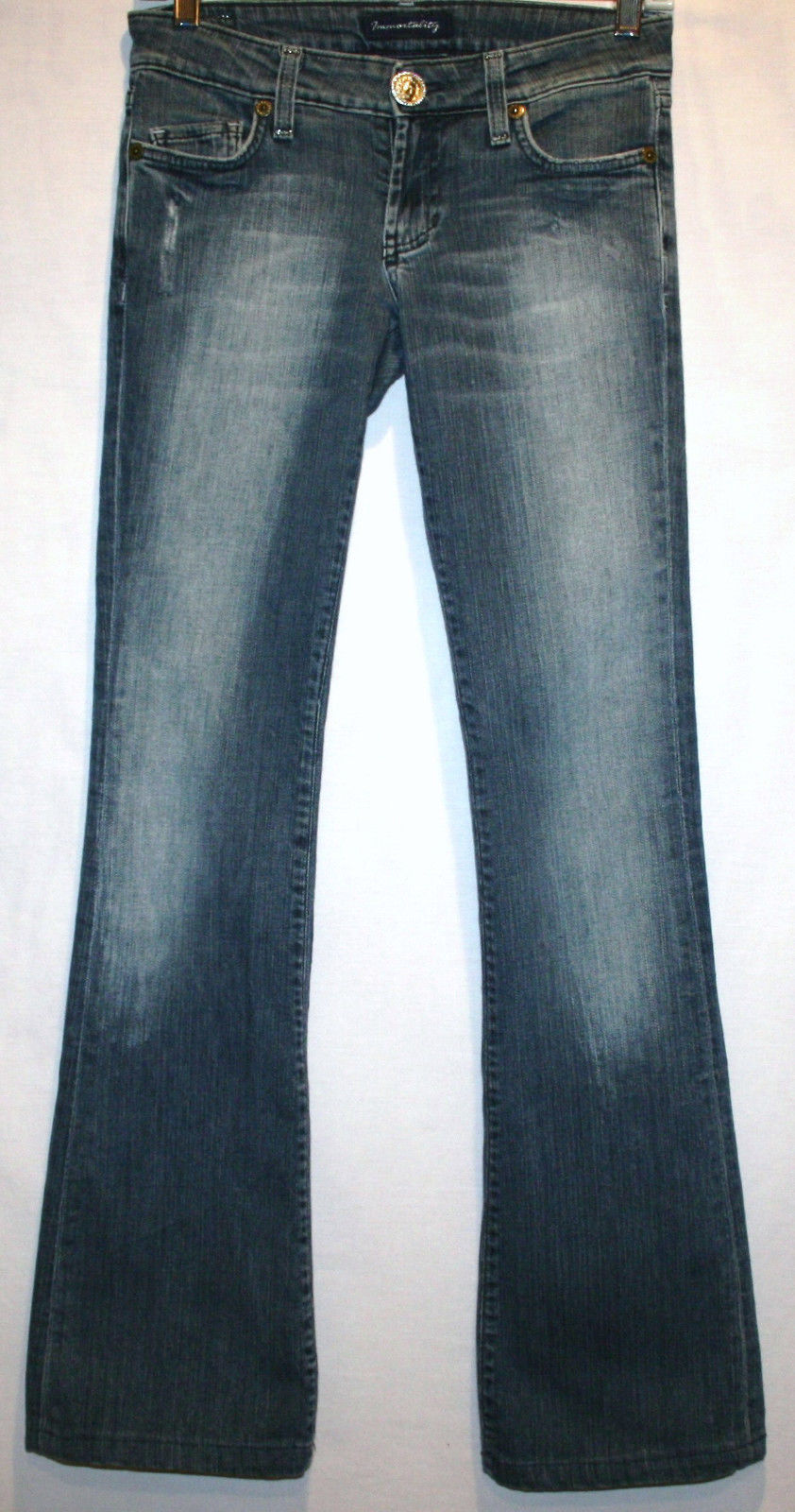 IMMORTALITY Couture Diana Taleshi Boot Cut Low Waist Jeans Size 25   #627