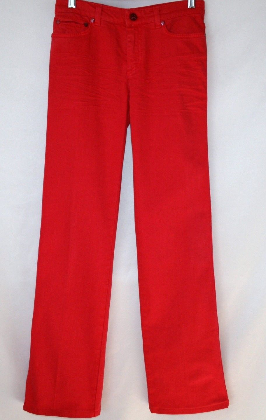 Roberto Cavalli 5 Pkt  Boot Cut Shocking Pink Jeans Pants Size 38 / 4  #1235