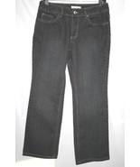 COLDWATER CREEK Black Denim Stretch Jeans SZ 6 Petite   D92 - $15.00