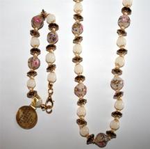 Fiorato Murano Italy Venetian Glass Beaded Bracelet & Necklace  NEW J77 - $125.00