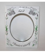 1984 Lefton China 25th Wedding Anniversary Photo Frame Never Used #1616 - $22.50