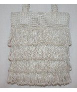 CACHE White Clear Glass Beaded Wedding Evening Bag       #1181 - $89.00