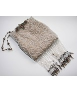 Todd Anthony Beaded Taupe Evening Bag   -EUC-   #1145 - $169.00
