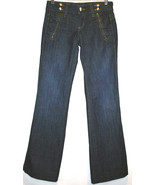 JUICY COUTURE Dark Wash Low Rise Boot Cut Jeans Wide Waistband Size 25  ... - $75.00