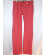 Roberto Cavalli 5 Pkt  Boot Cut Watermelon Pink Jeans Pants Size Small  ... - $240.00