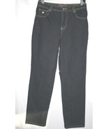 GLORIA VANDERBILT Amanda Dark Blue Denim Stretch Jeans SZ 8 Average  D93 - $12.00