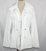 LONDON FOG Tower Collection Lined Hooded Jacket SMALL White NWT D240 - $55.00